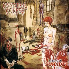 Обложка альбома Cannibal Corpse «Gallery of Suicide» (1998)