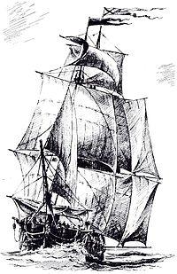 Иллюстрация из книги А. А. Чернышёва «Российский парусный флот»