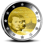 €2 Commemorative coin Luxembourg 2012.jpg