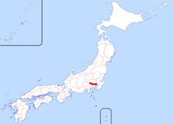 Location o Tokyo in Japan
