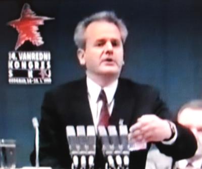 Slobodan Milošević, predsednik Centralnog komiteta Saveza komunista Srbije govori na 14. kongresu SKJ.