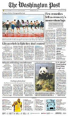 The Washington Post front page (June 2, 2011).jpg