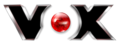 The current logo of Vox, with red eye in middle
