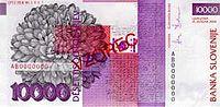 Bankovec za 10000 sit (2000) - zadnja stran