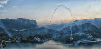 Bled Lake Slovenia Loop Air Show Bled 2013