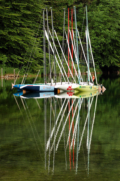 Slika:Sailboats at Lake Bohinj.jpg