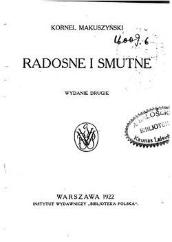 Radosne I Smutnecałość Wikisource