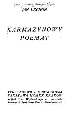 Karmazynowy Poematcałość Wikisource
