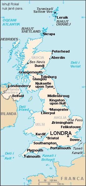 britania e madhe ndodhet ne pjesen perendimore te evropes ishujt e saj