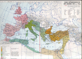 Ndarja perëndim-lindje e per. Romakekalimi nga perëndimi në lindje
