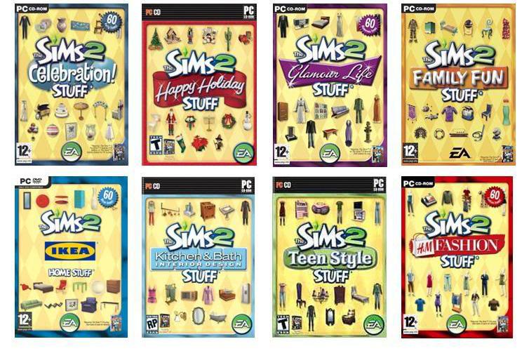 The Sims 2 Stuff Packs