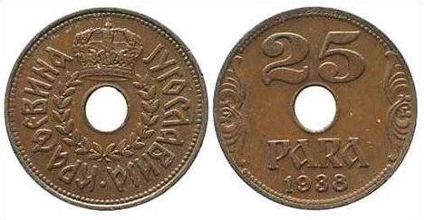 25 пара из 1938