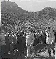 Stevan Kragjevic, Sutjeska, 1958, smotra prezivelih, sa Kocom Popovicem
