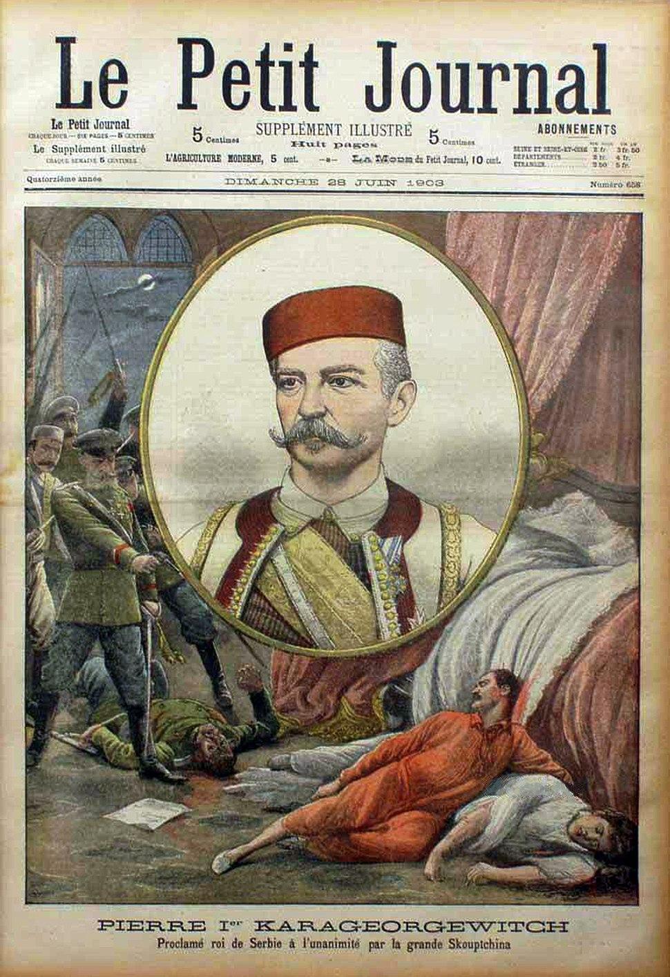 Petar A. Karadjordjevic (1844-1921) u srpskoj crnogorskoj nosnji - 1903