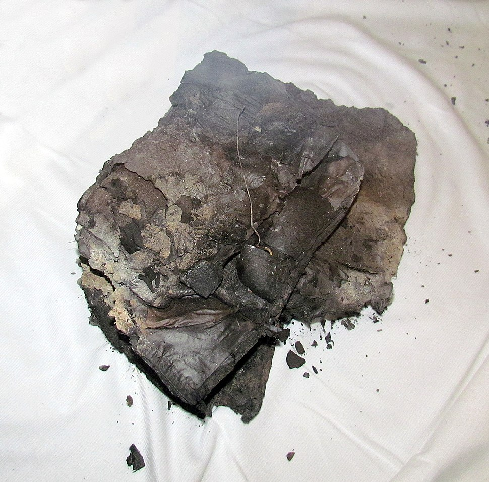 The remains of the burnt book in the German bombing of the National Library of Serbia (6 aprila1941).