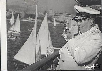 Stevan Kragujevic,Tito, Sa kamerom, na brodu Galeb