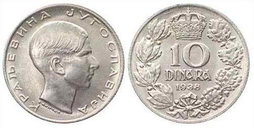 10 динара из 1938