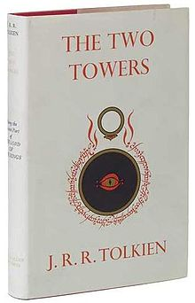 The Two Towers (novel) -1st edition cover.JPG