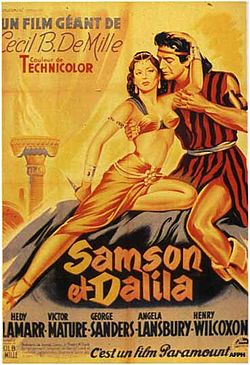 French movie poster for Samson and Delilah