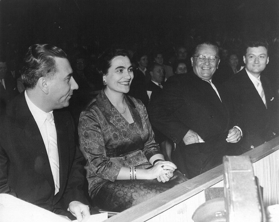 Stevan Kragujevic, A. Rankovic, Tito, Jovanka Broz i Mika Tripalo