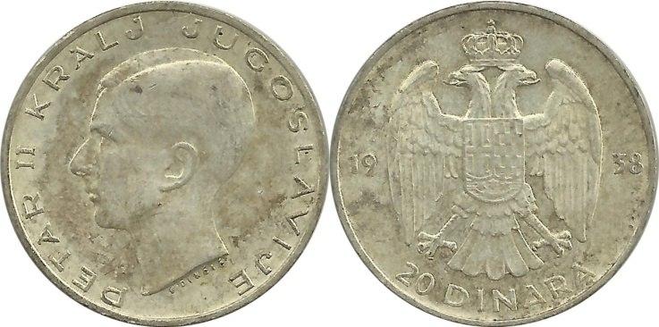 20 динара из 1938