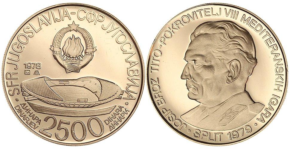 2500 динара МИ Сплит 1978
