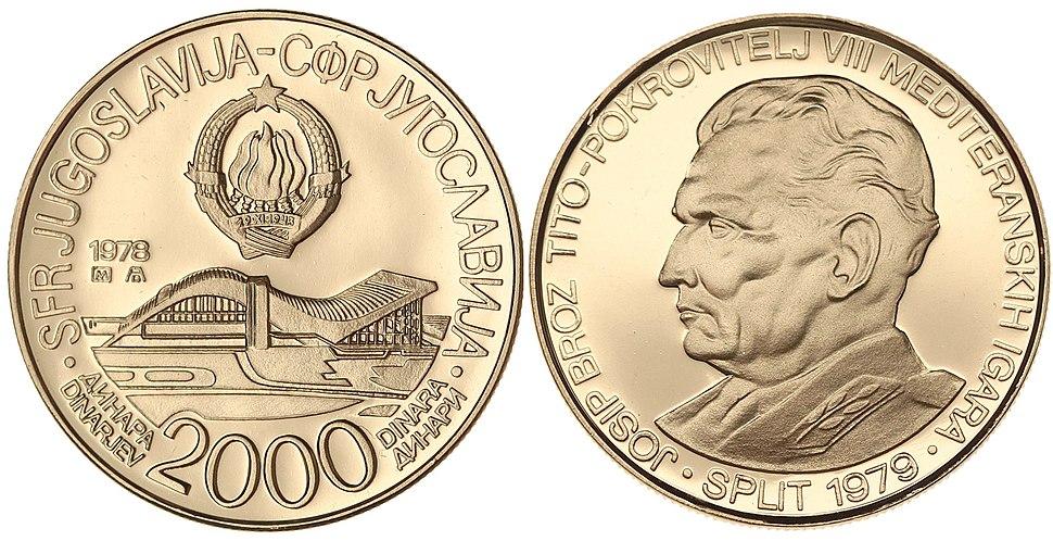 2000 динара МИ Сплит 1978