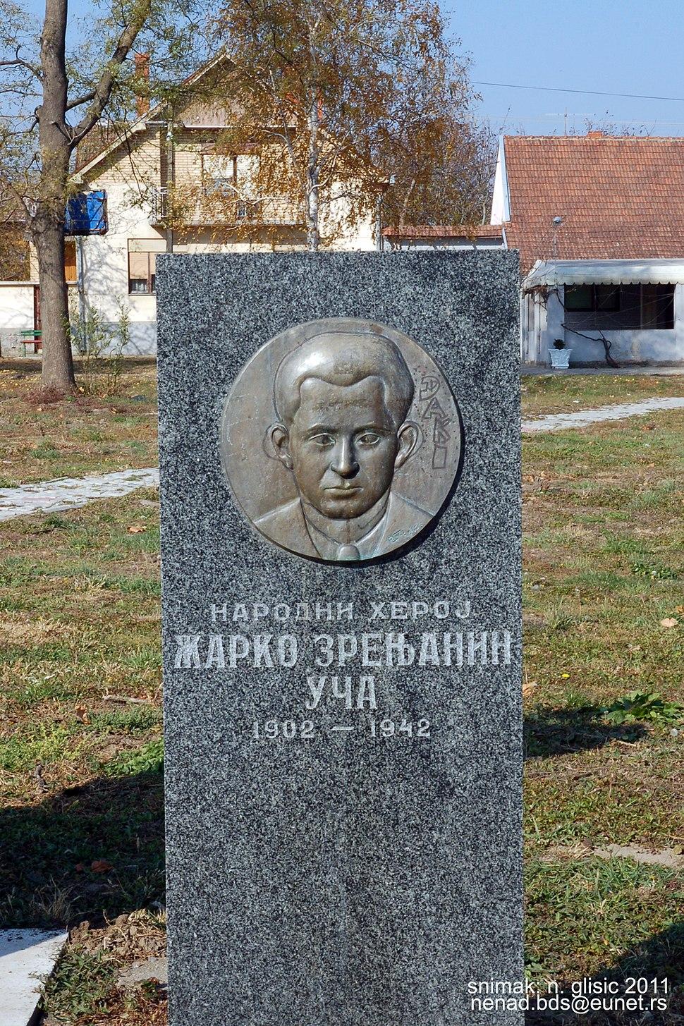 Spomenik Žarku Zrenjaninu u Izbištu