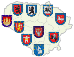 Lithuania counties CoA map.png