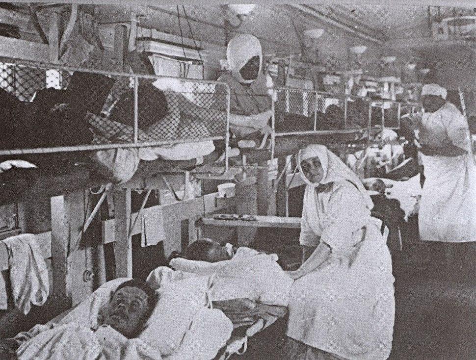 Sanitetski voz u Nisu 1915