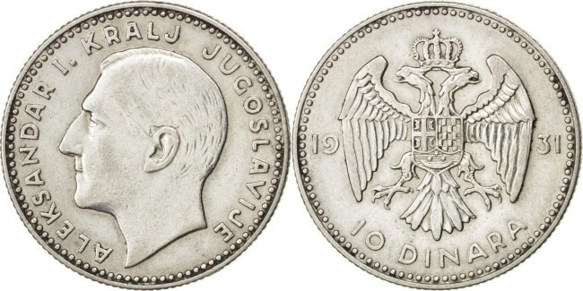 10 динара из 1931