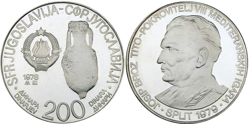 200 динара МИ Сплит 1978
