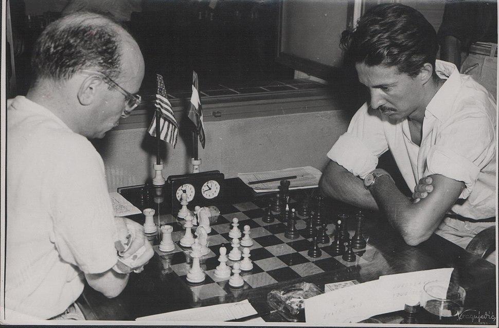 Stevan Kragujevic, mec Gligoric Resevski, IX sahovska olimopijada u Dubrovniku, Turnir nacija, 1950