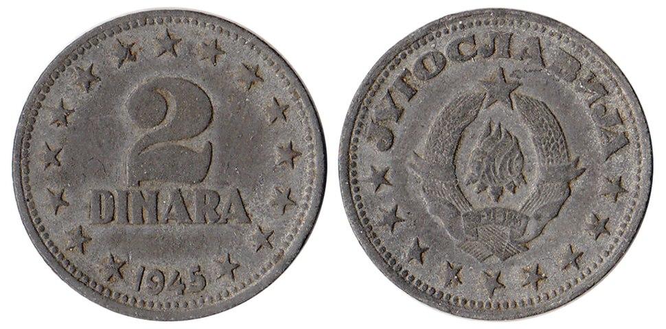 2 динара 1945