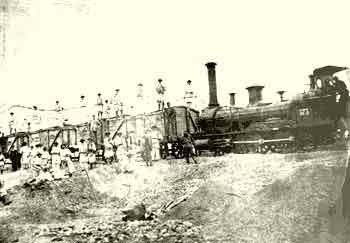 Изградња пруге код Вршца 1856