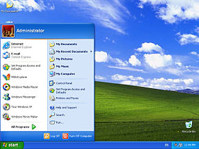 WindowsXP-StartMenuAndBliss.jpg
