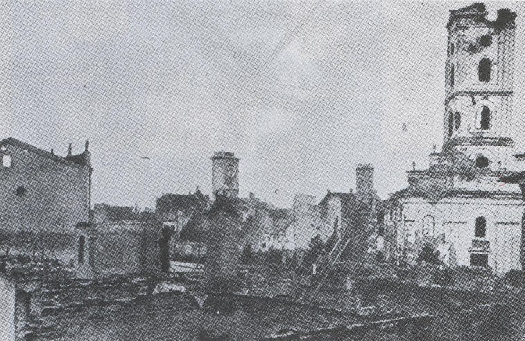 Sabac razoren austrougarskom artiljerijom Avgust 1914