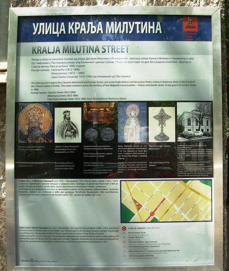 Ulica kralja Milutina