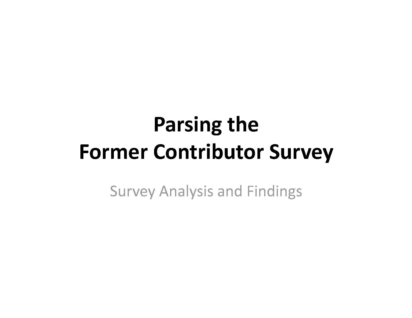 Parsing the Former Contributor Survey.pdf