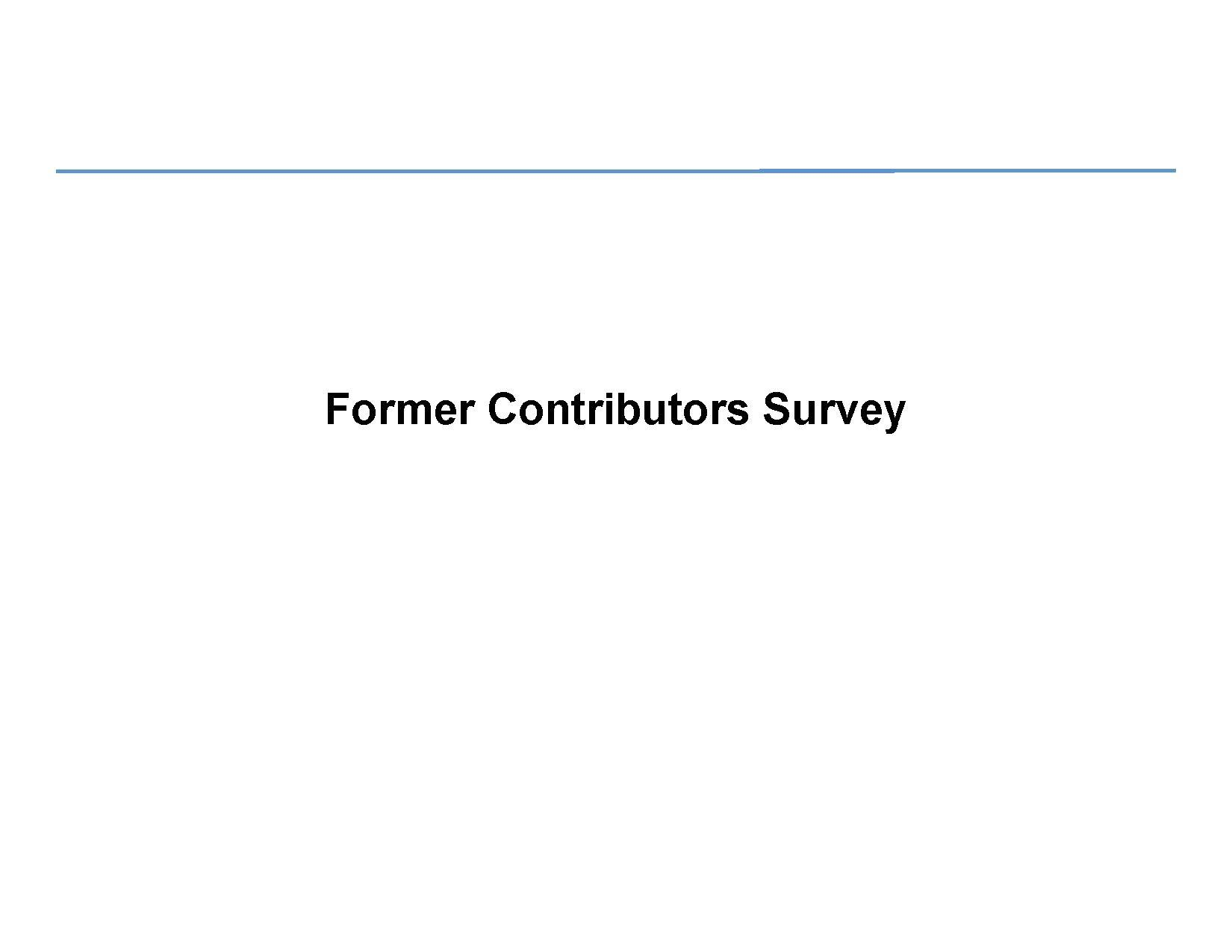 Former contributors survey presentation - wiki.pdf