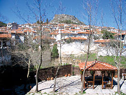 Old Muğla on the slopes of the flat-topped Mount Hisar or Asar (Dağı)