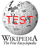 Our test Wikipedia logo