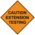 Extension testing sign.png