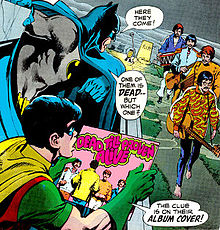 The cover of a 1970 Batman comic book parodying the legend