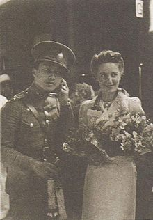 Prince Bira and Cyril Heycock at Hua Lamphong in 1938.jpg