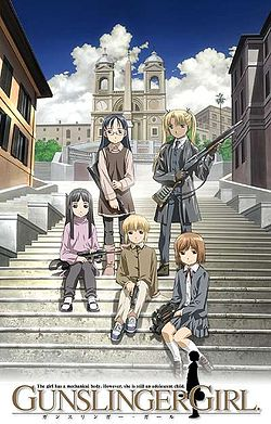 Cover of the first volume of the English release of the Gunslinger Girl manga series