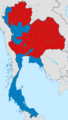 2011 Thai general election results by province proportionally.png