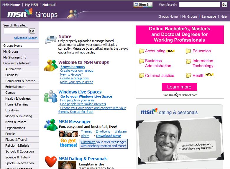 MSN Grupları - Vikipedi