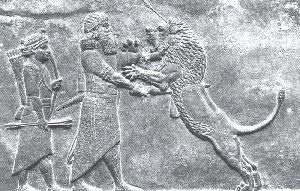 Dosya:Asurbanipal Aslan Avında.jpg