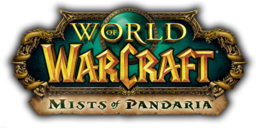 """World of Warcraft: Mists of Pandaria"" resmi logosu"